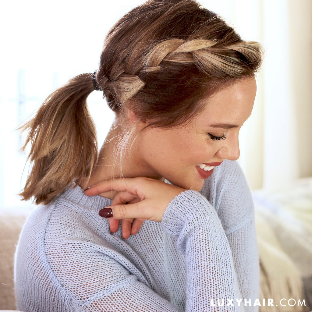 The Side French Braid Ponytail