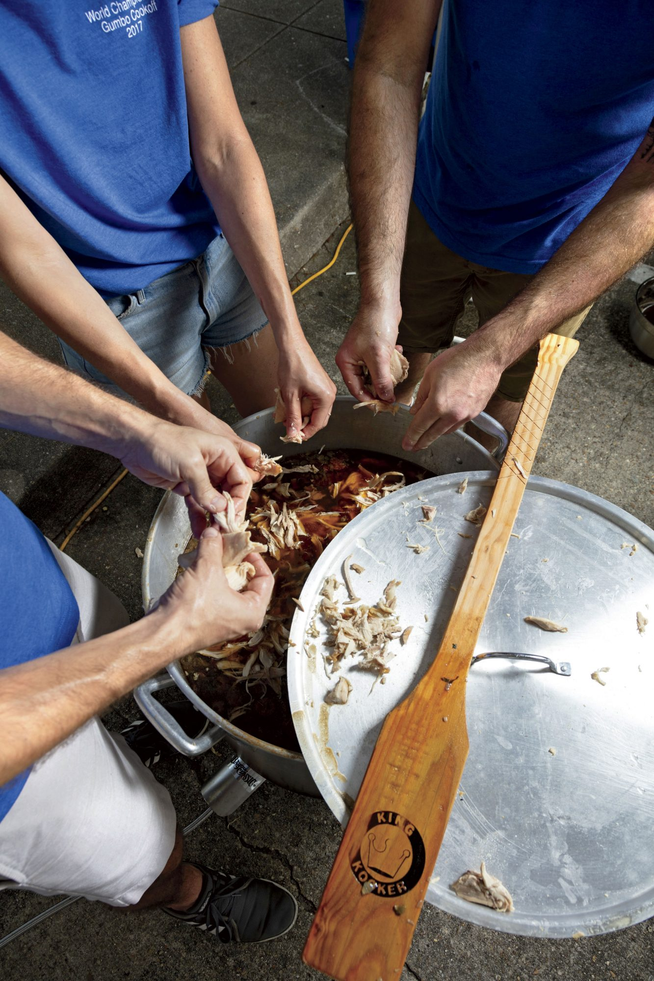 Picking Apart for Gumbo at the New Iberia Cookoff