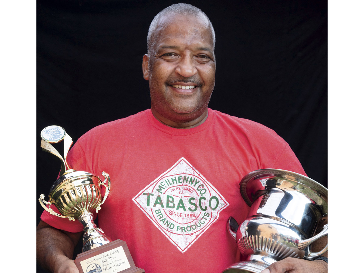 Nelson Boutte of the Tobasco Team at the New Iberia Gumbo Cookoff