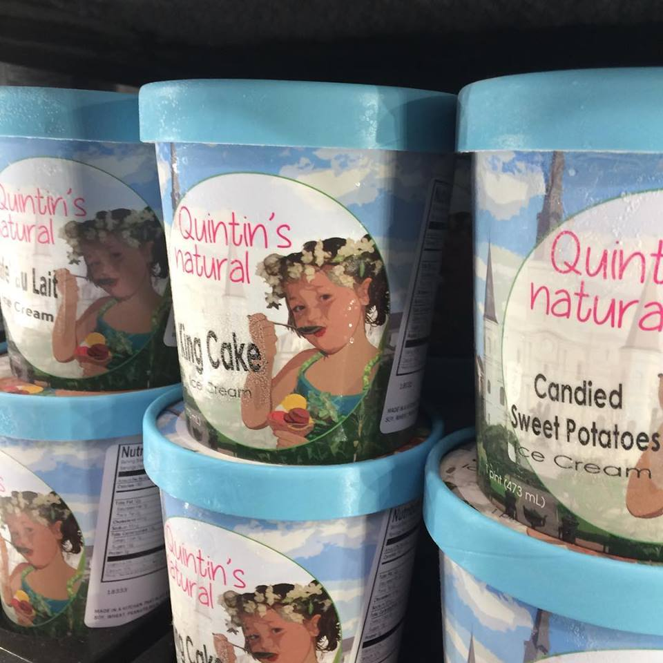 Quentin's Natural King Cake Ice Cream