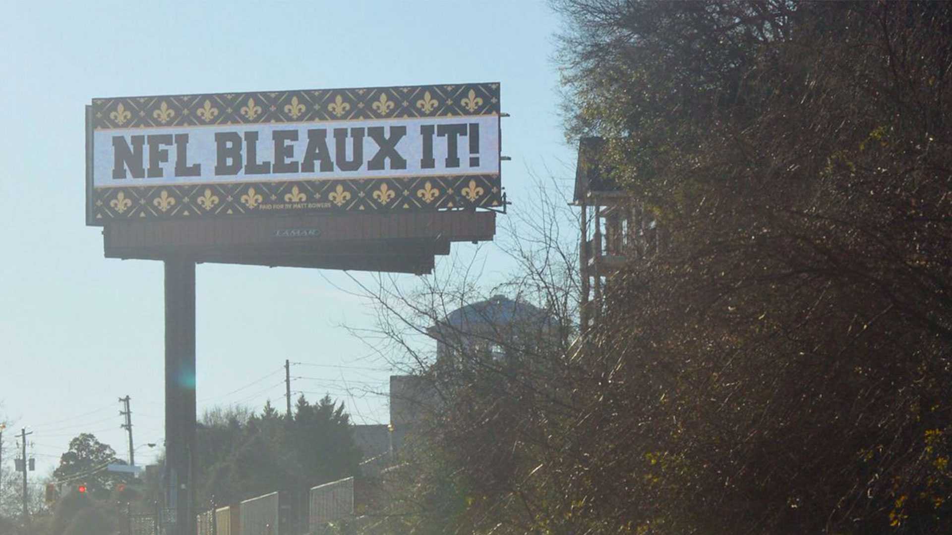 Saints Billboards Atlanta