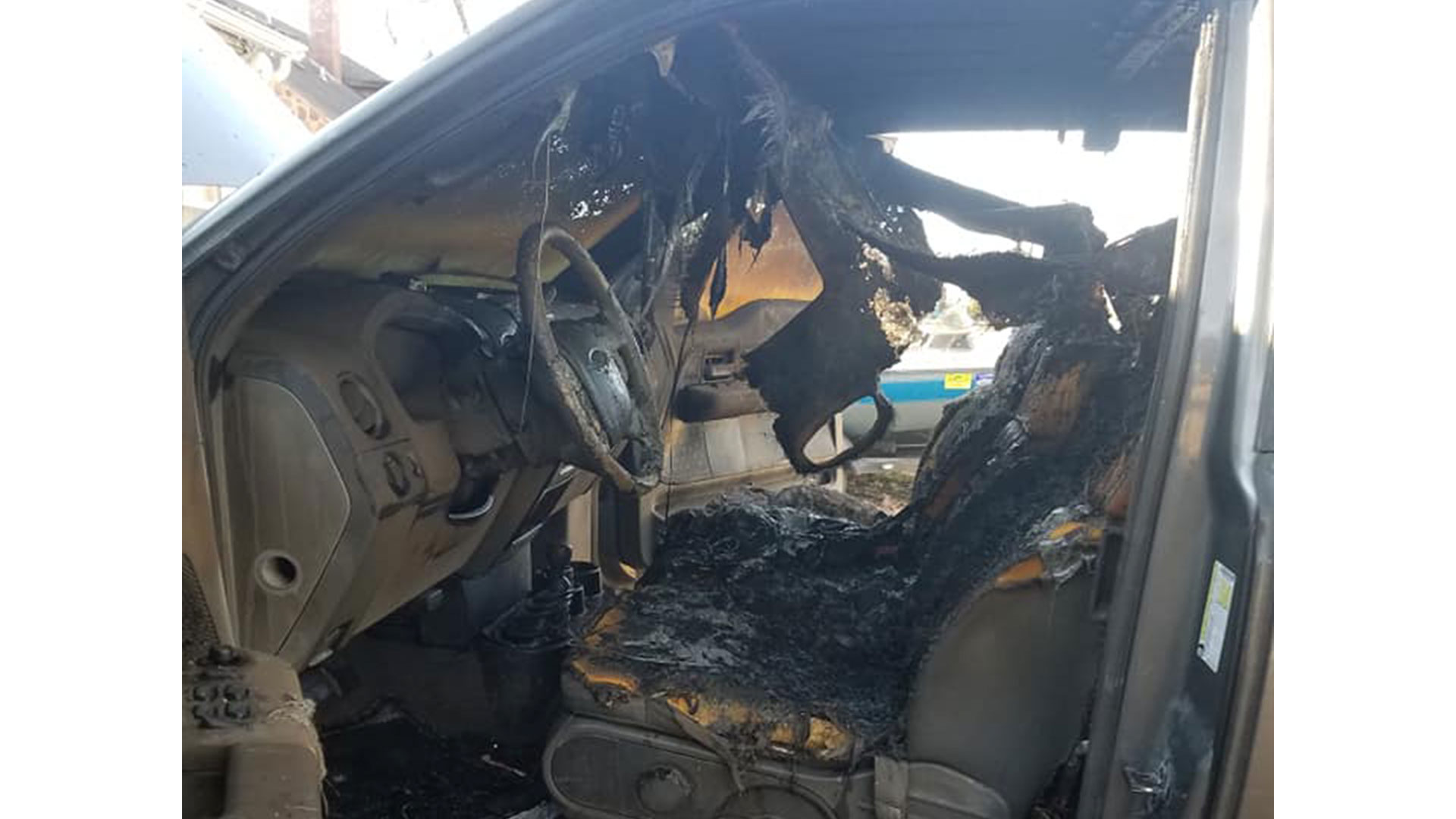 Bible Saved From Truck Fire