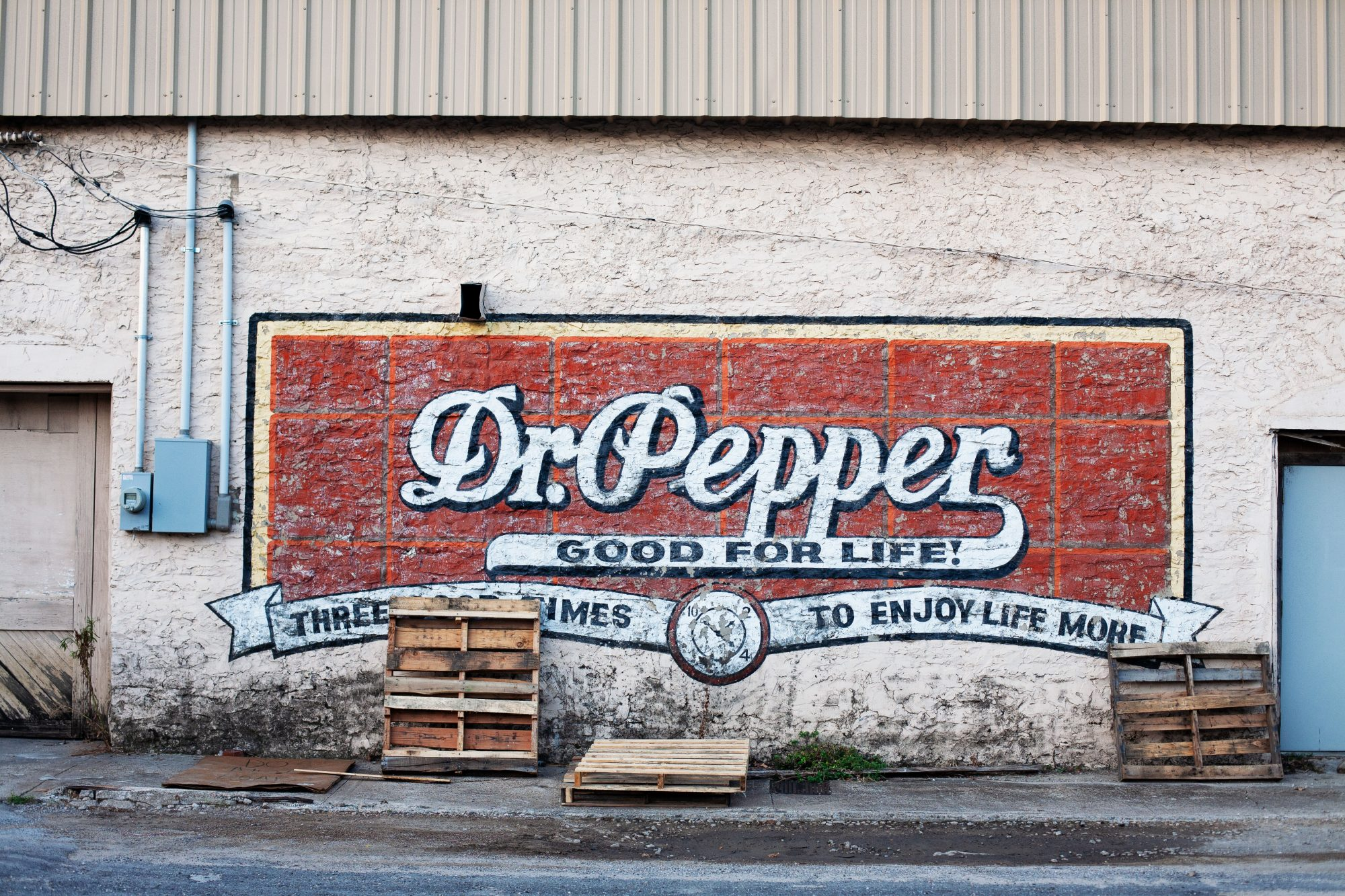Vintage Dr. Pepper Painted Wall