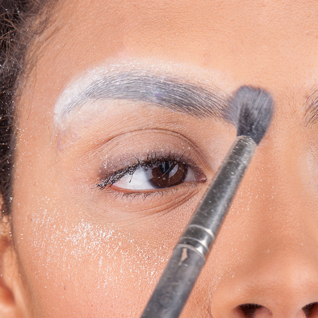 How to glue down eyebrows