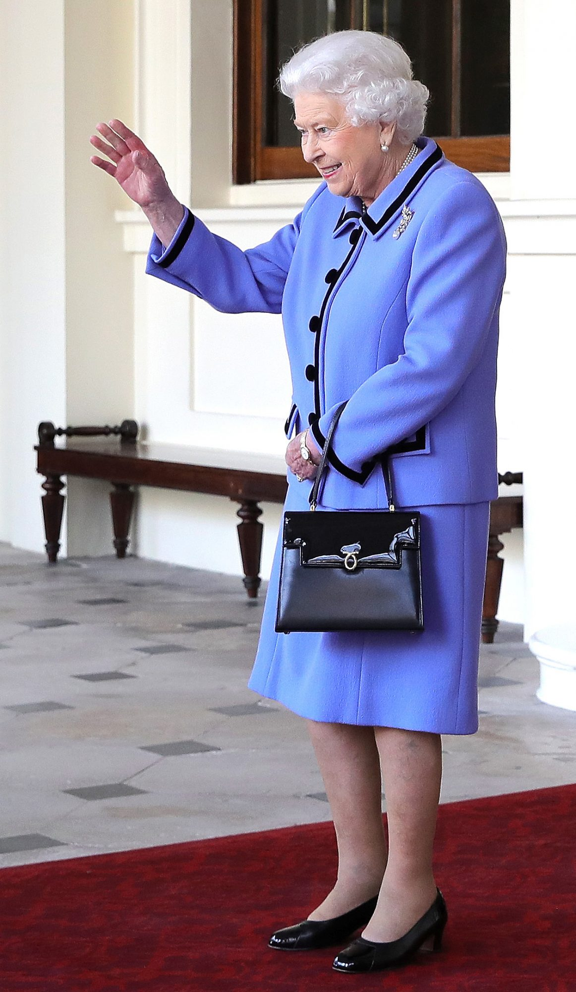 Queen Elizabeth Waving