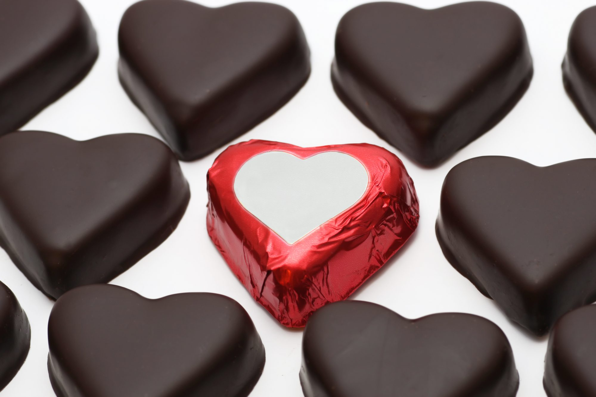 Dark Chocolate Hearts
