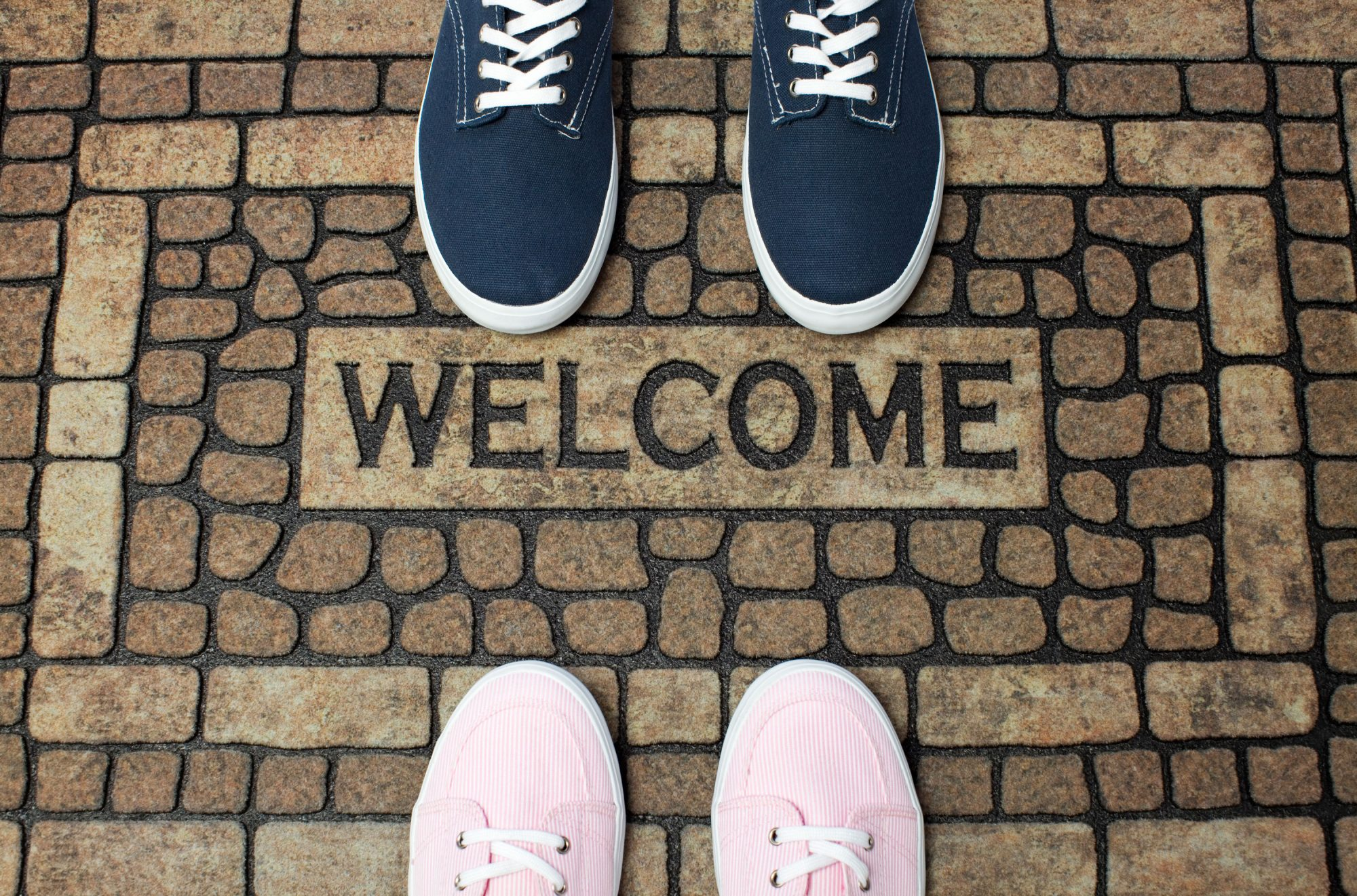 Shoes on Welcome Mat