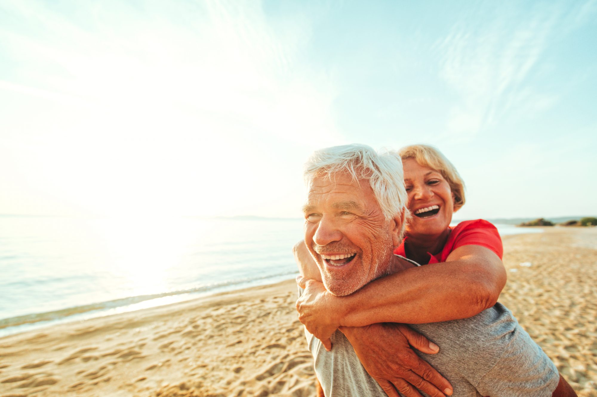 Older Man and Woman on Beach