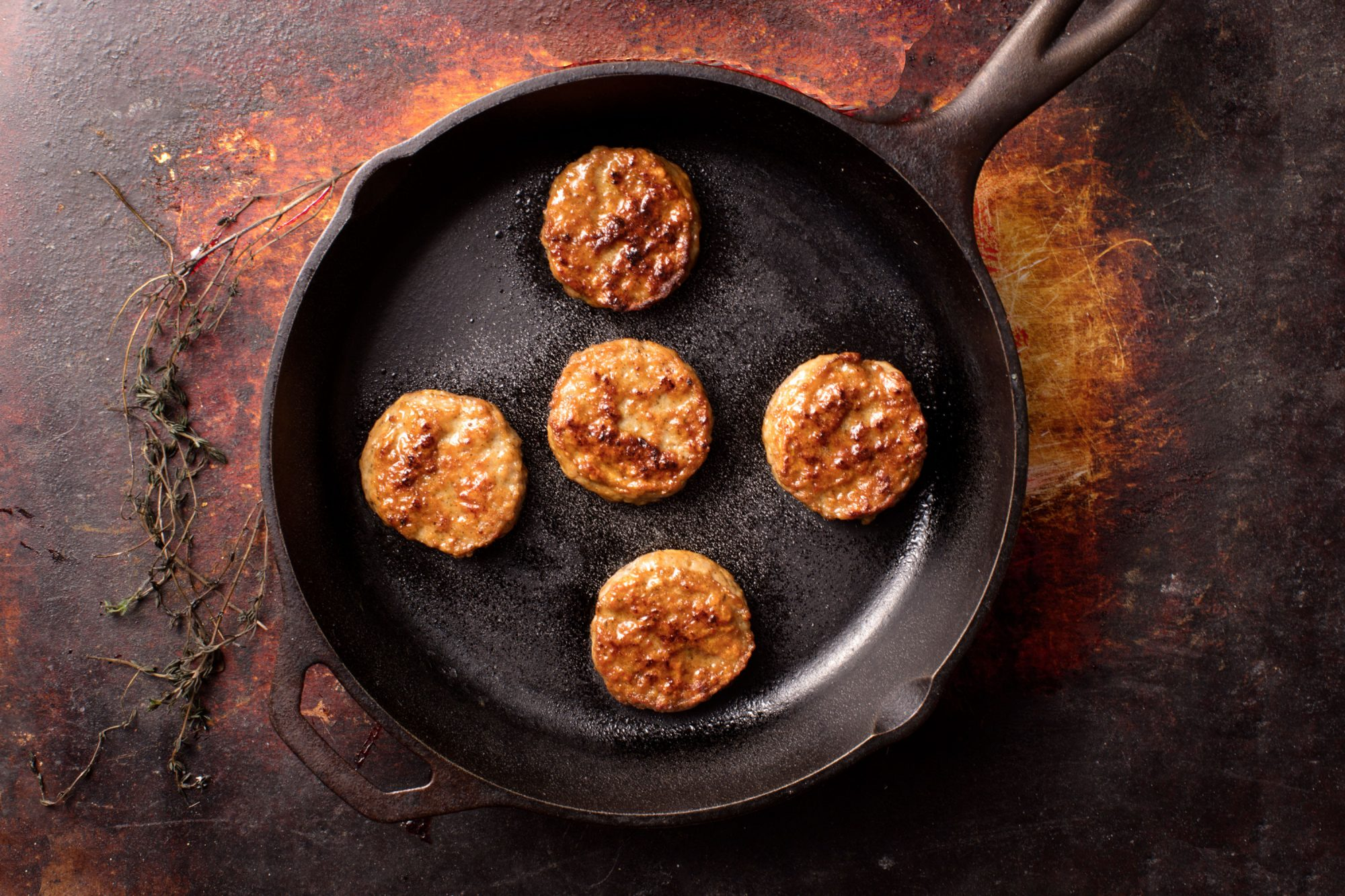 Sausage Patties in Skillet