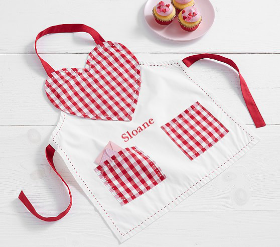 Gingham Heart Apron
