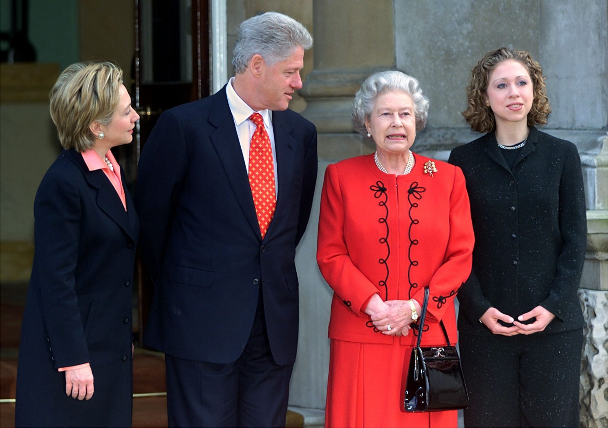 Queen Elizabeth with Clinton Family