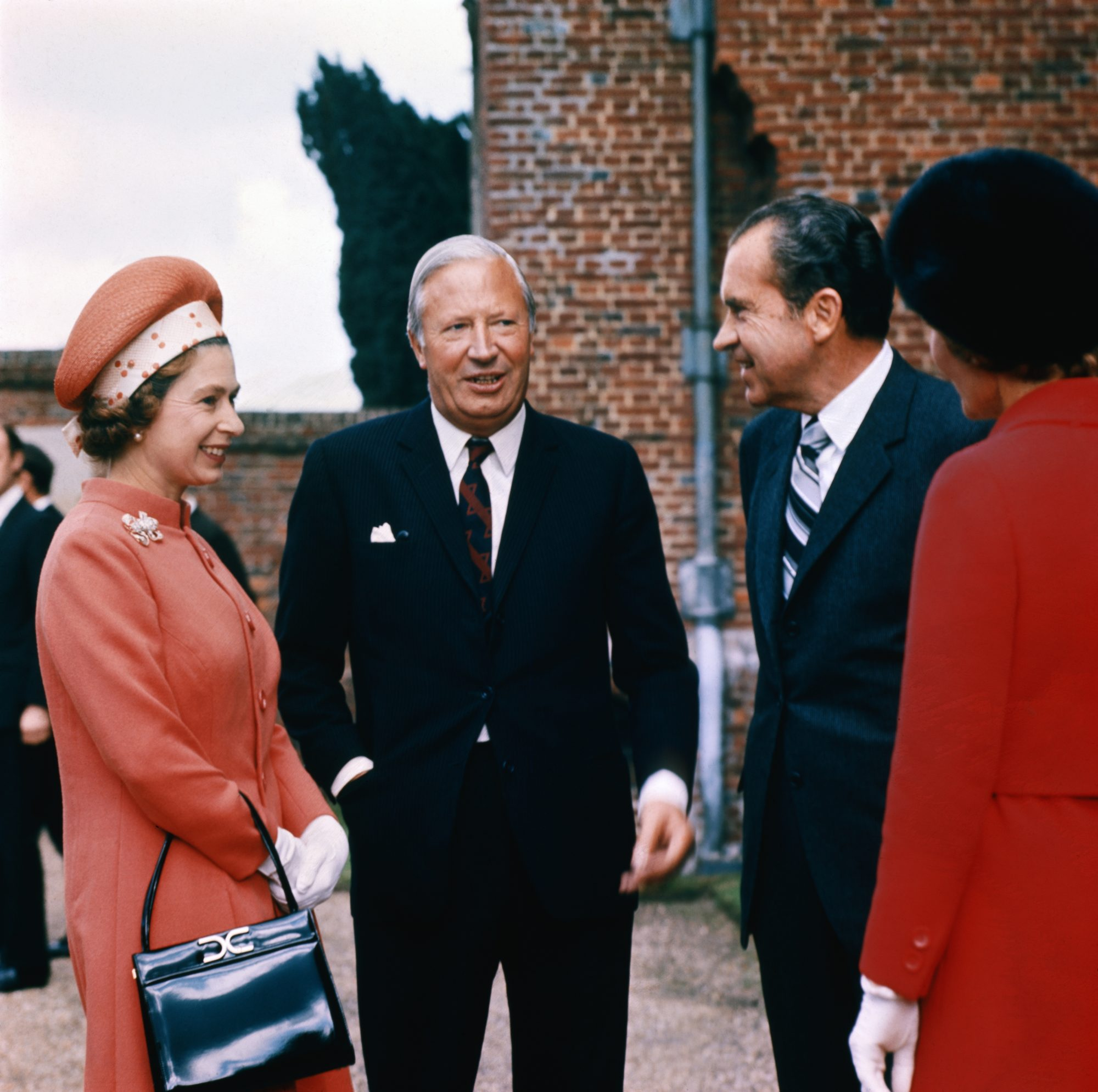 Queen Elizabeth with President and Pat Nixon