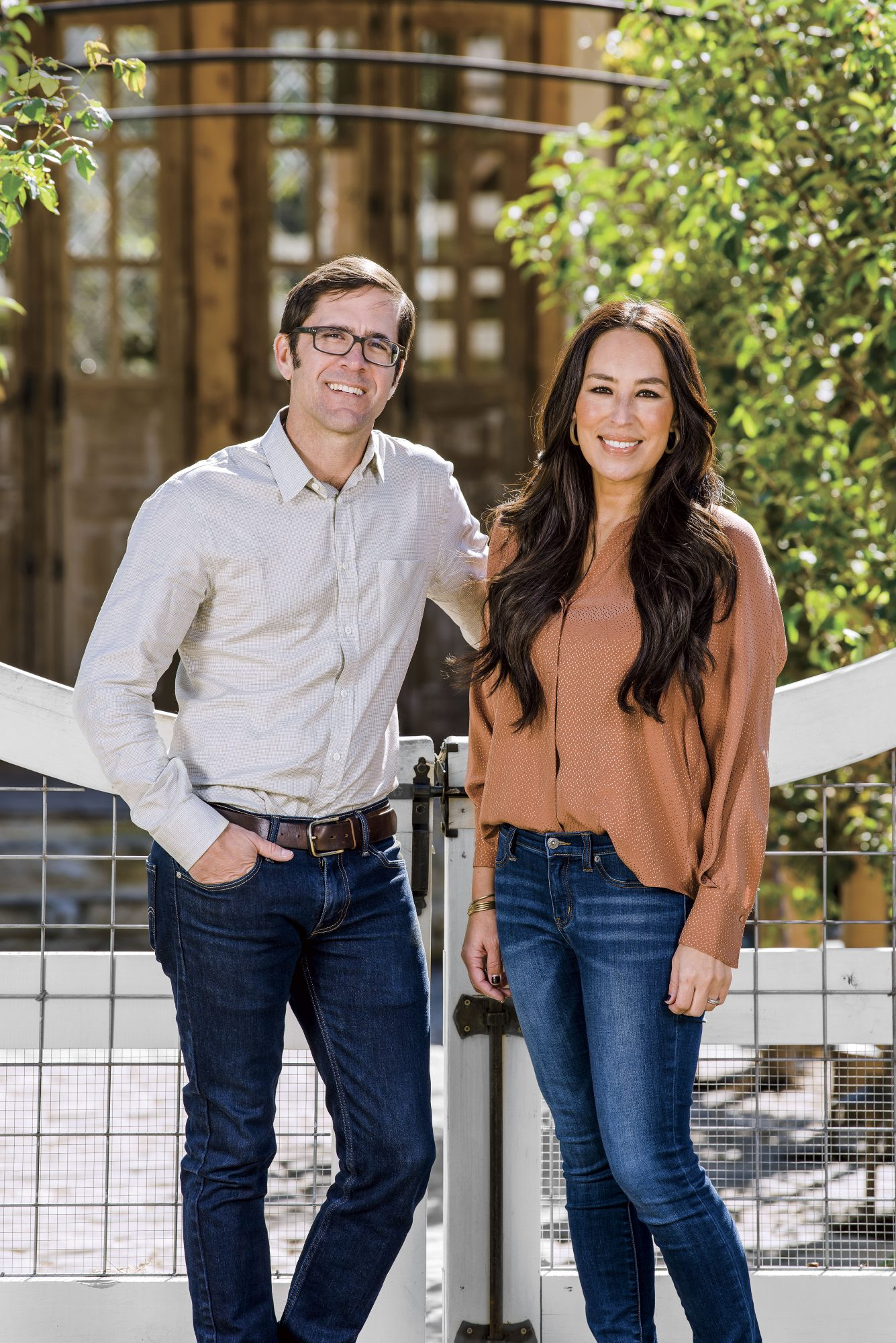 Joanna Gaines and Sid Evans