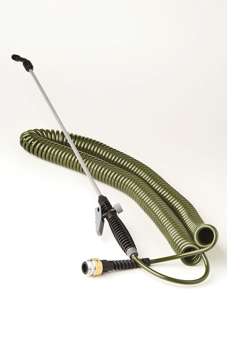 Mini Coil Indoor Garden Hose with Sprayer
