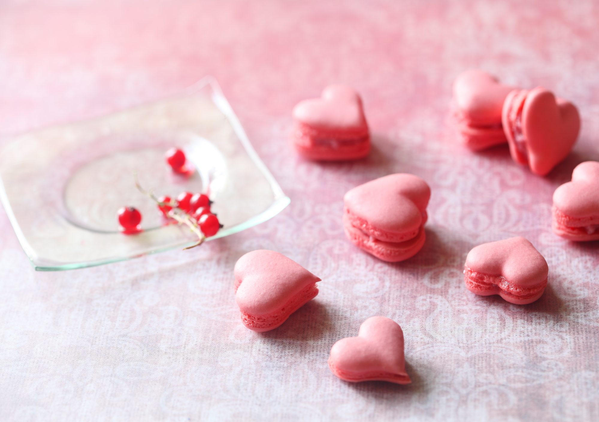 Heart-Shaped Macarons