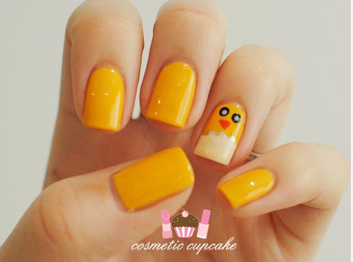 Yellow Easter Chick Nails