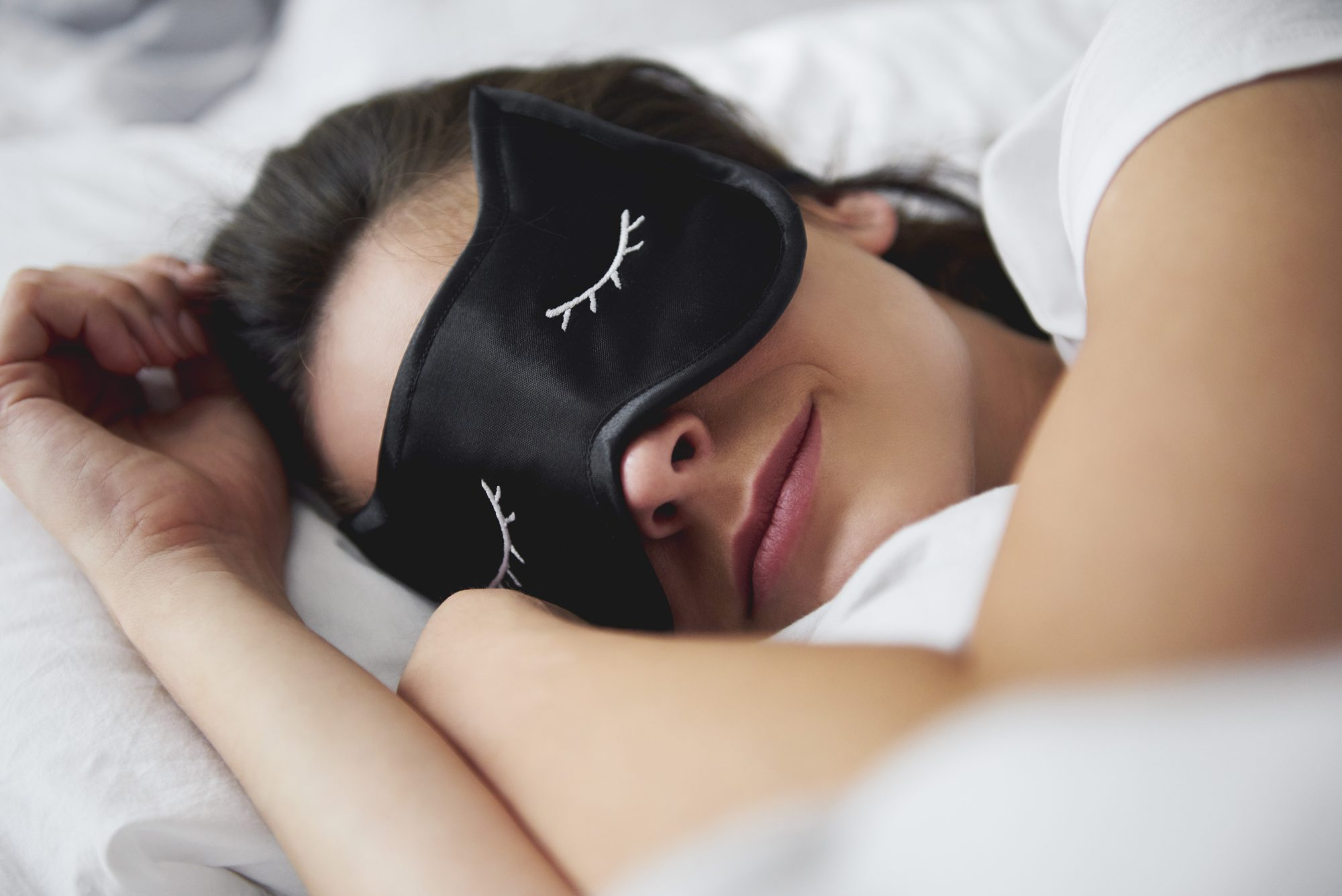 Woman in Sleep Mask