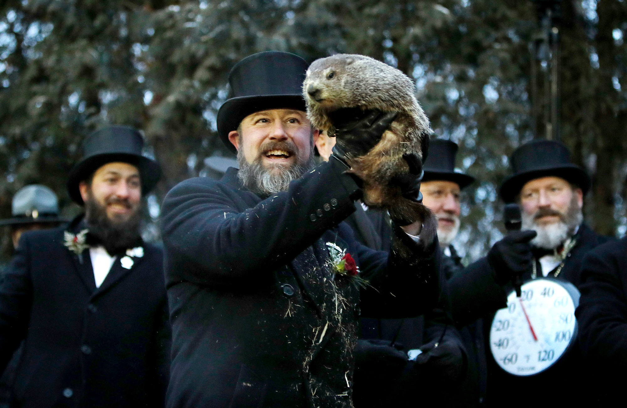 Bye Bye Winter?Punxsutawney Phil Predicts an Early Spring on Groundhog Day