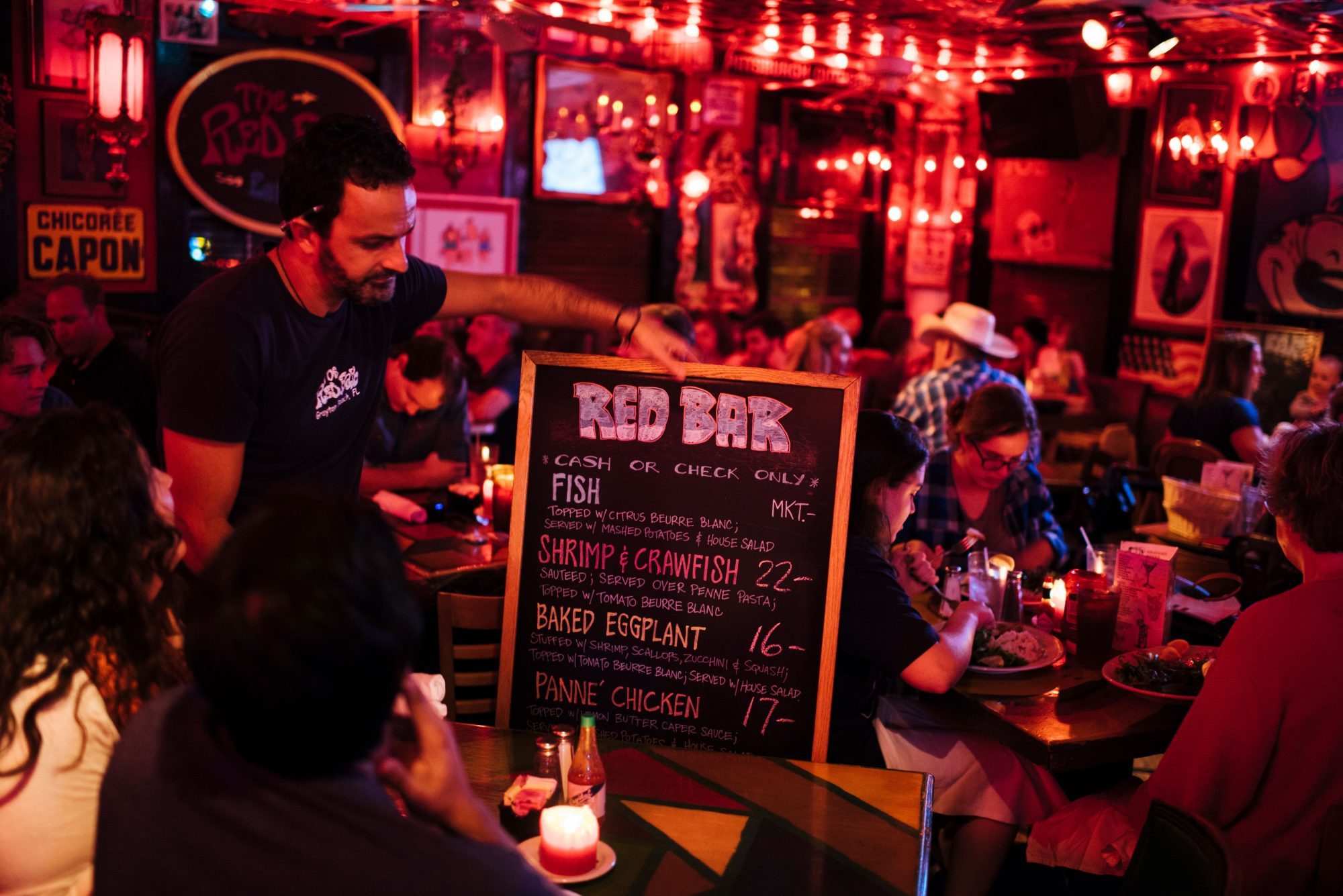 red bar menu