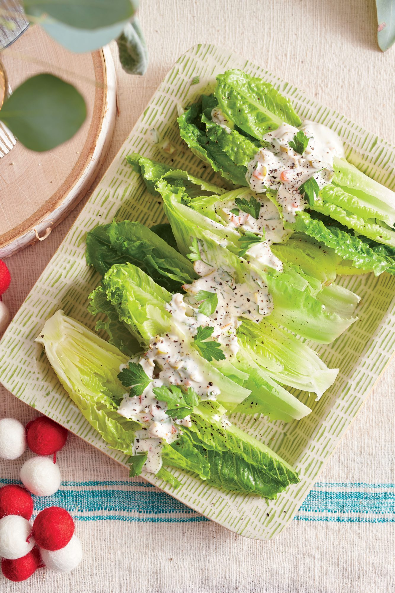 Romaine with Creamy Olive Dressing Recipe