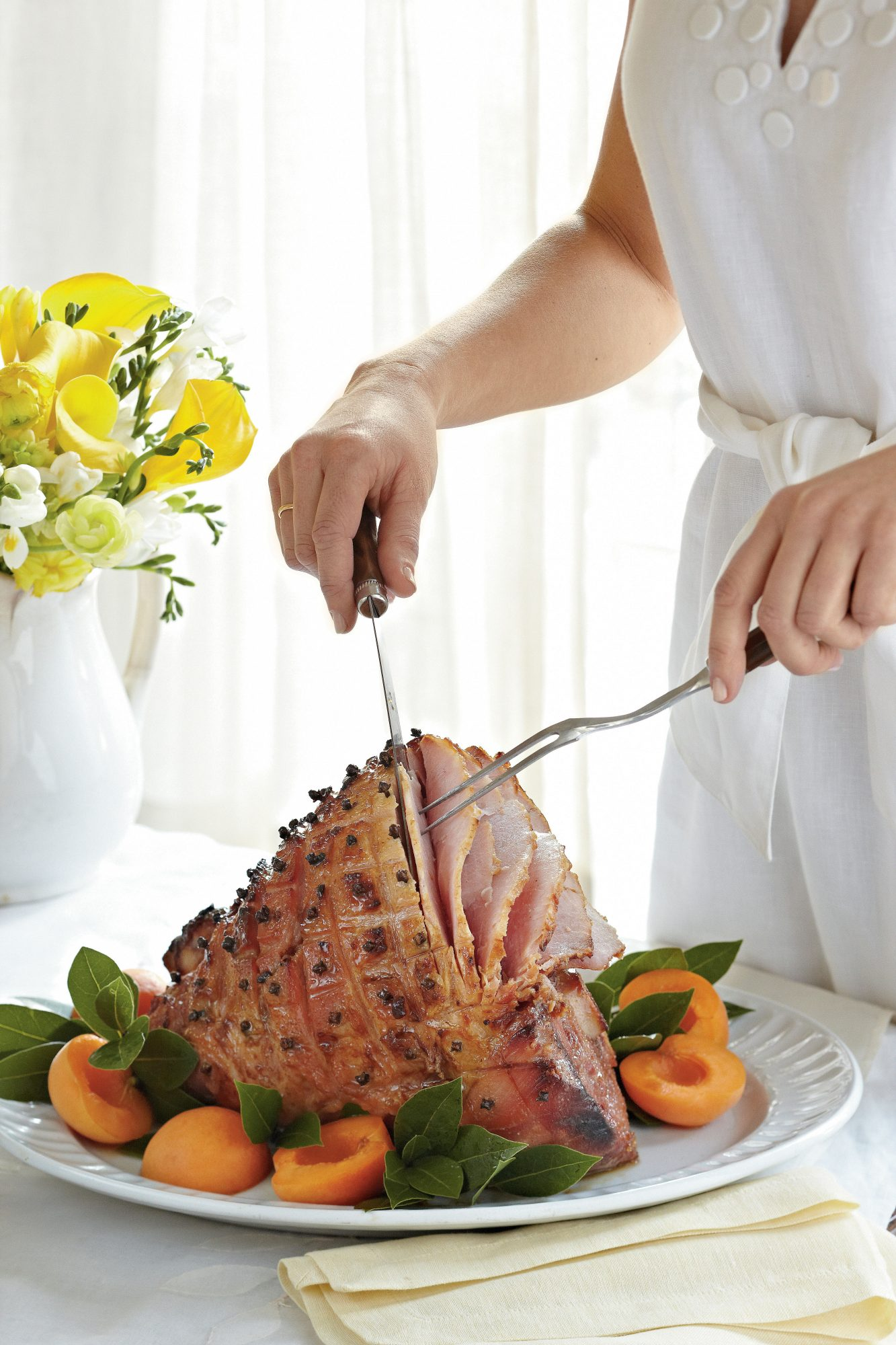 Brown Sugar-Bourbon-Glazed Ham