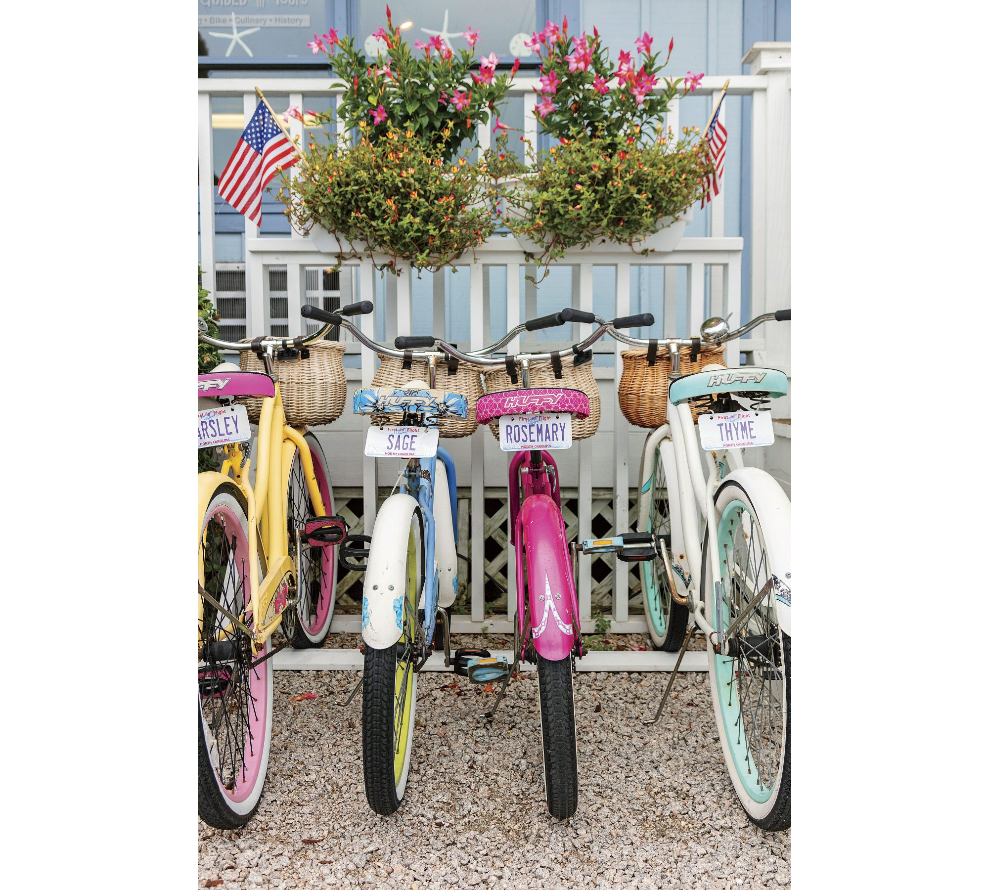 Colorful Bikes in Beaufort, NC