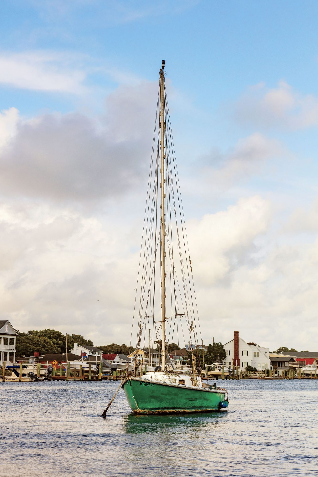 Sailboat in Beaufort, NC