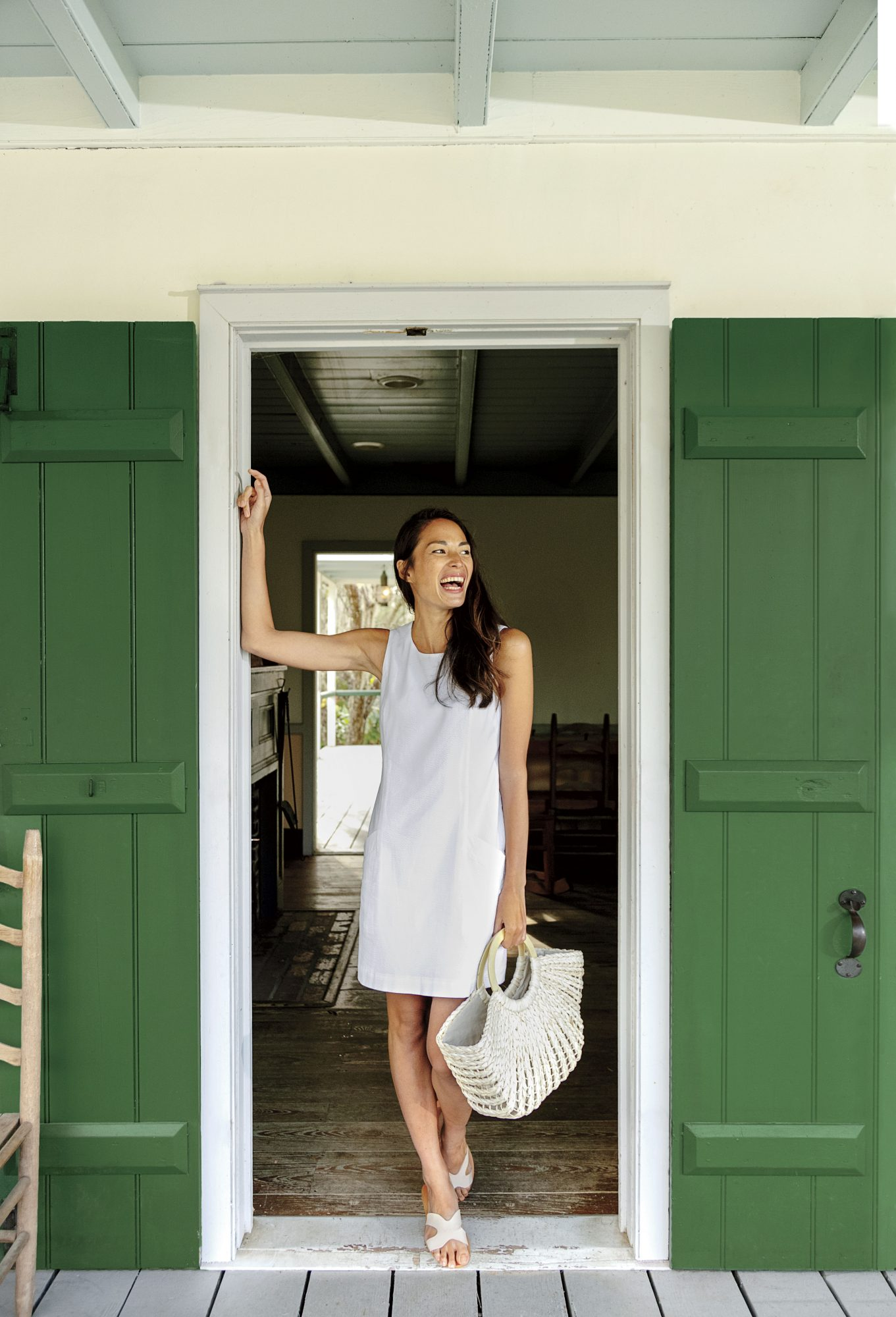 Southern Tide White Seersucker Dress