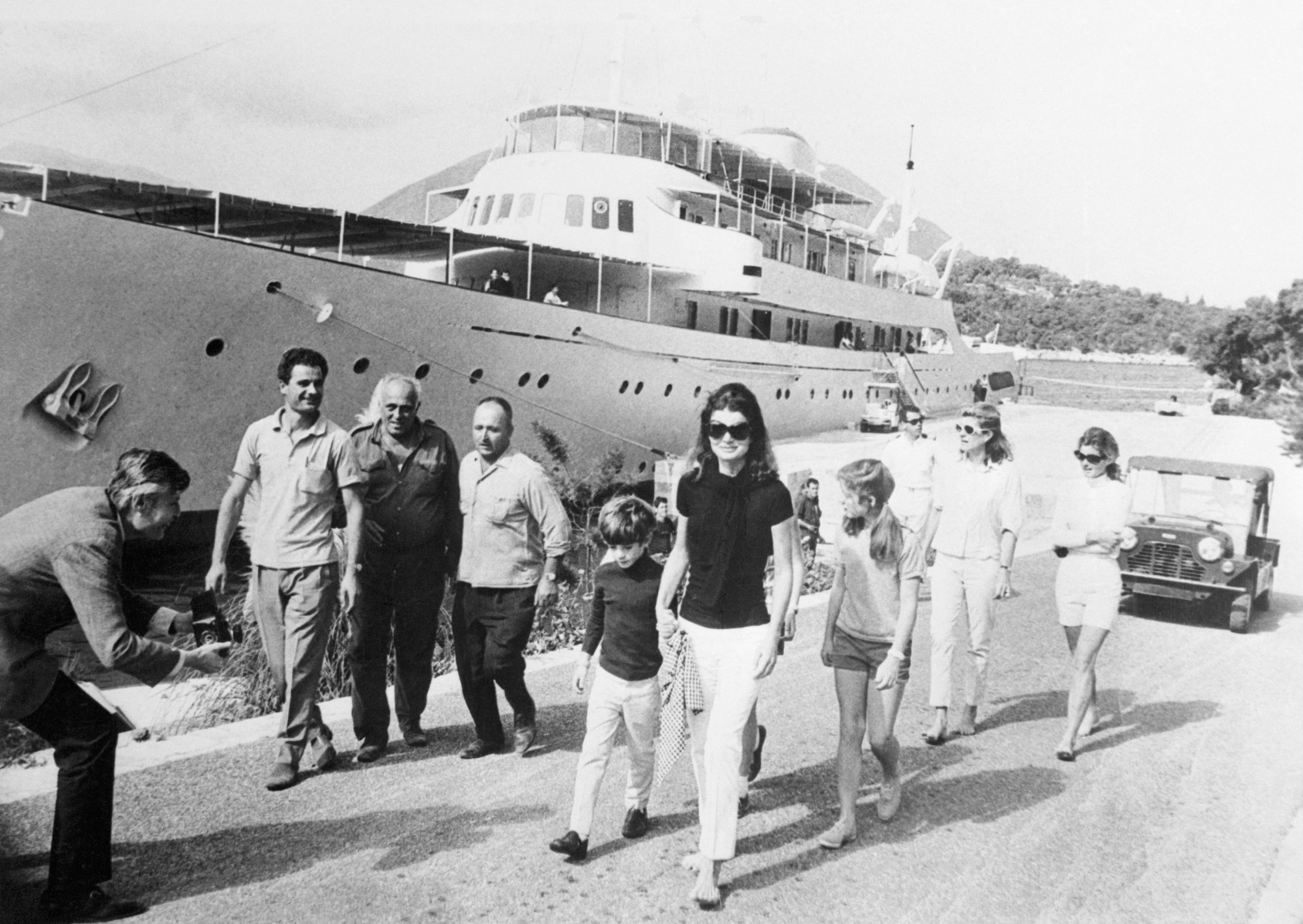 Jackie Kennedy and Yacht Christina