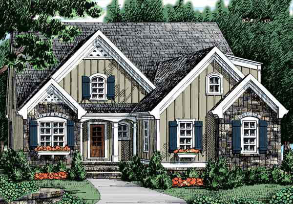 RX_1903 Closed-Floor-Plan House Plans_Aberdeen Place, Plan #013