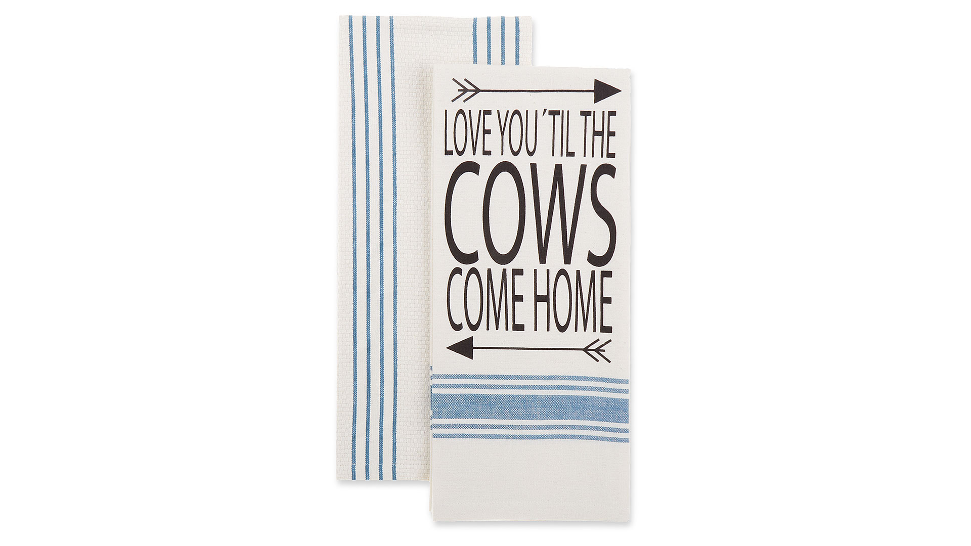 2-Pack Cows Come Home Kitchen Towels