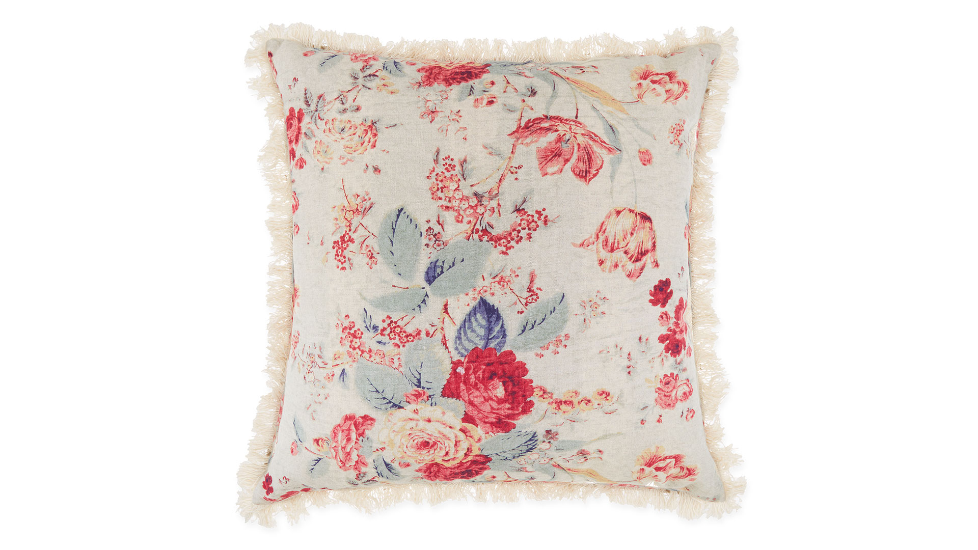 Multi-Floral Square Throw Pillow