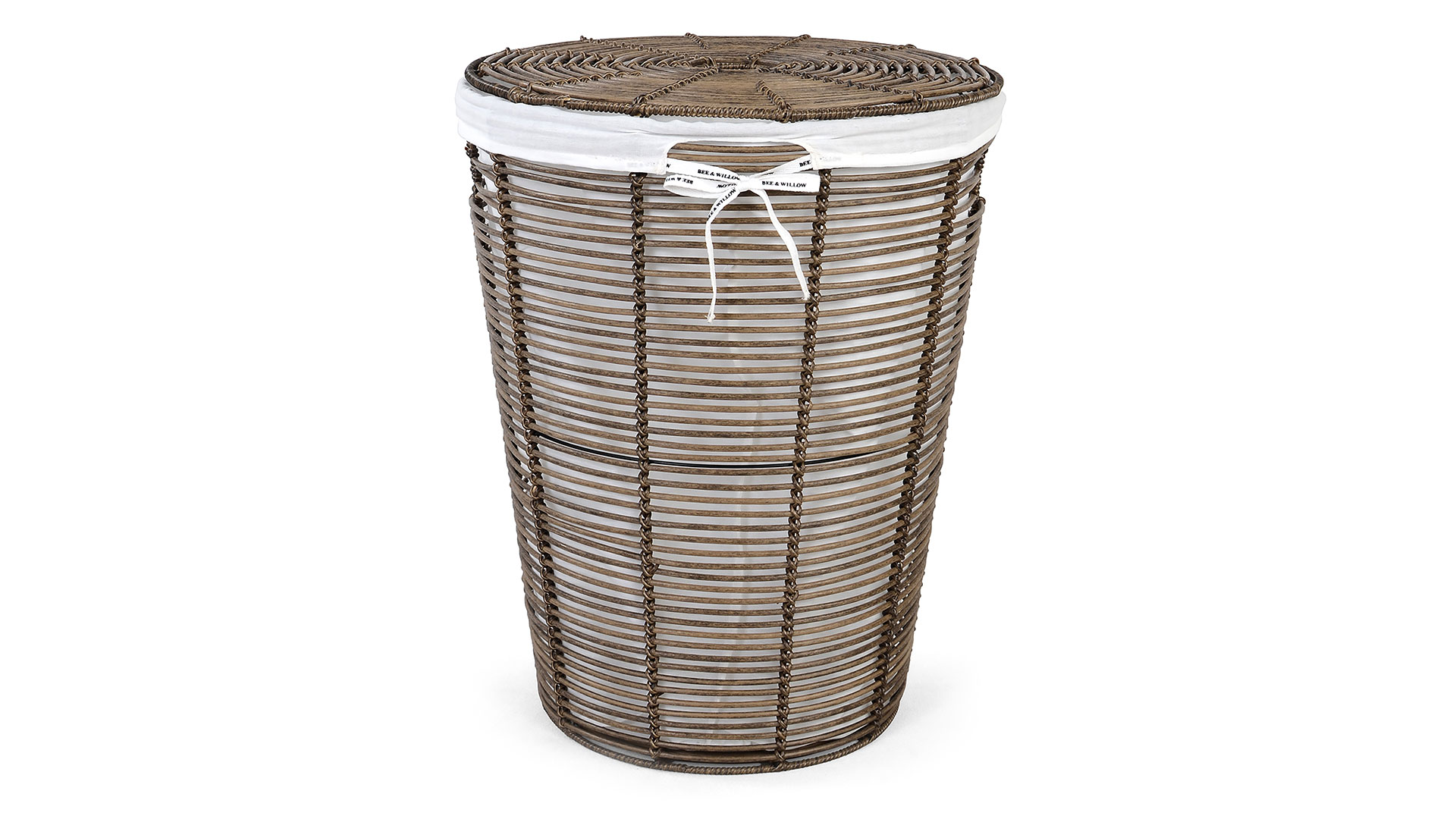 Poly Rattan Laundry Hamper with Liner