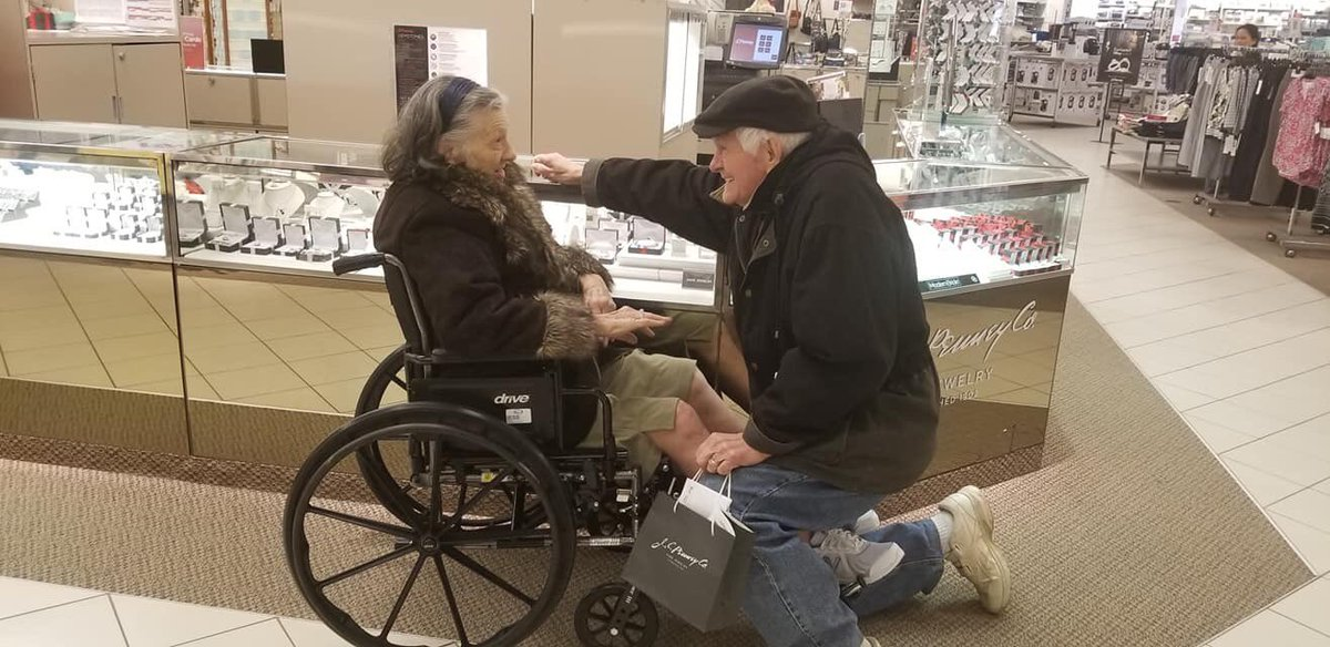 Elderly Husband Proposes to Wife Again