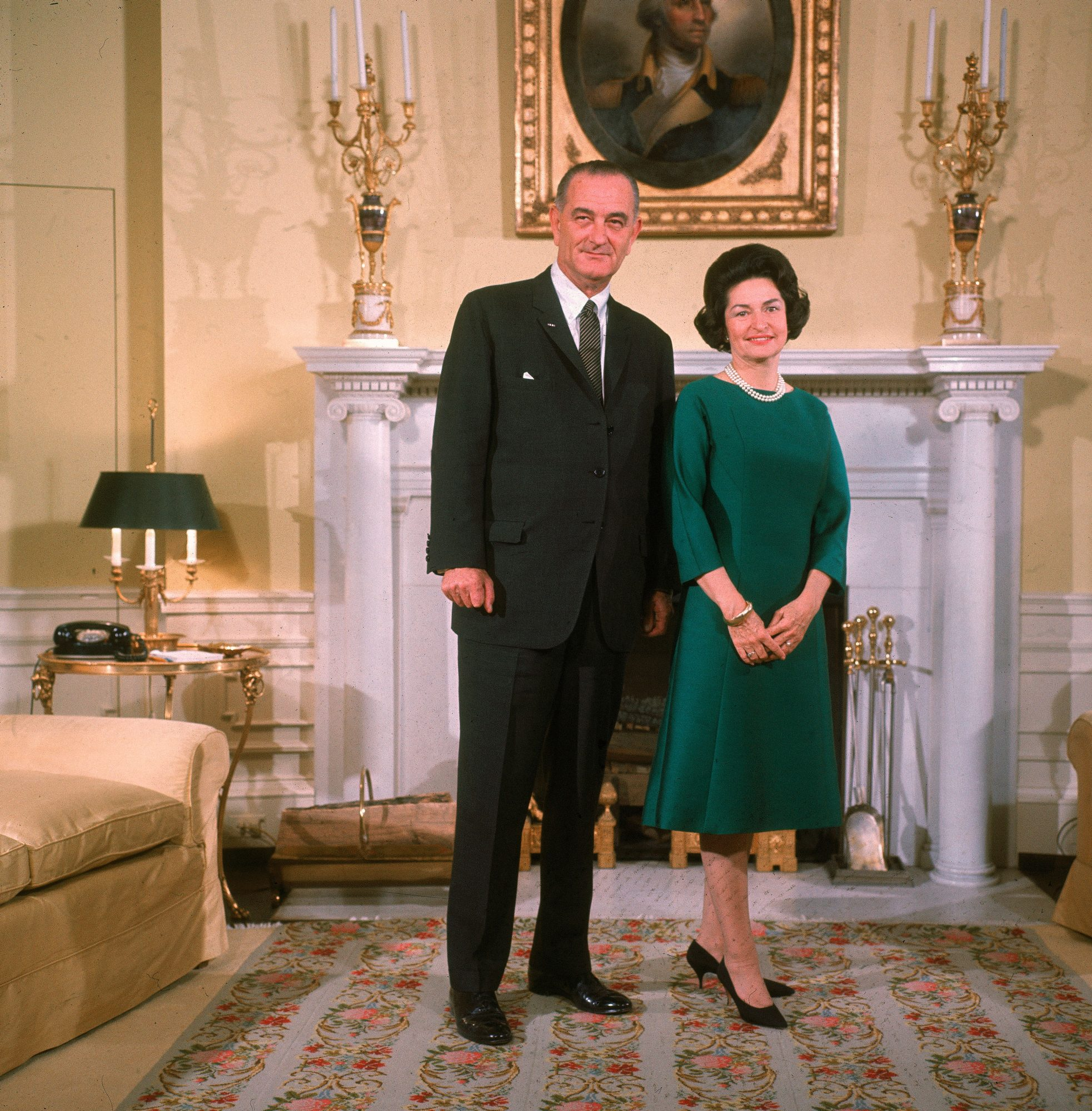 "President Lyndon Johnson and Claudia ""Lady Bird"" Johnson"