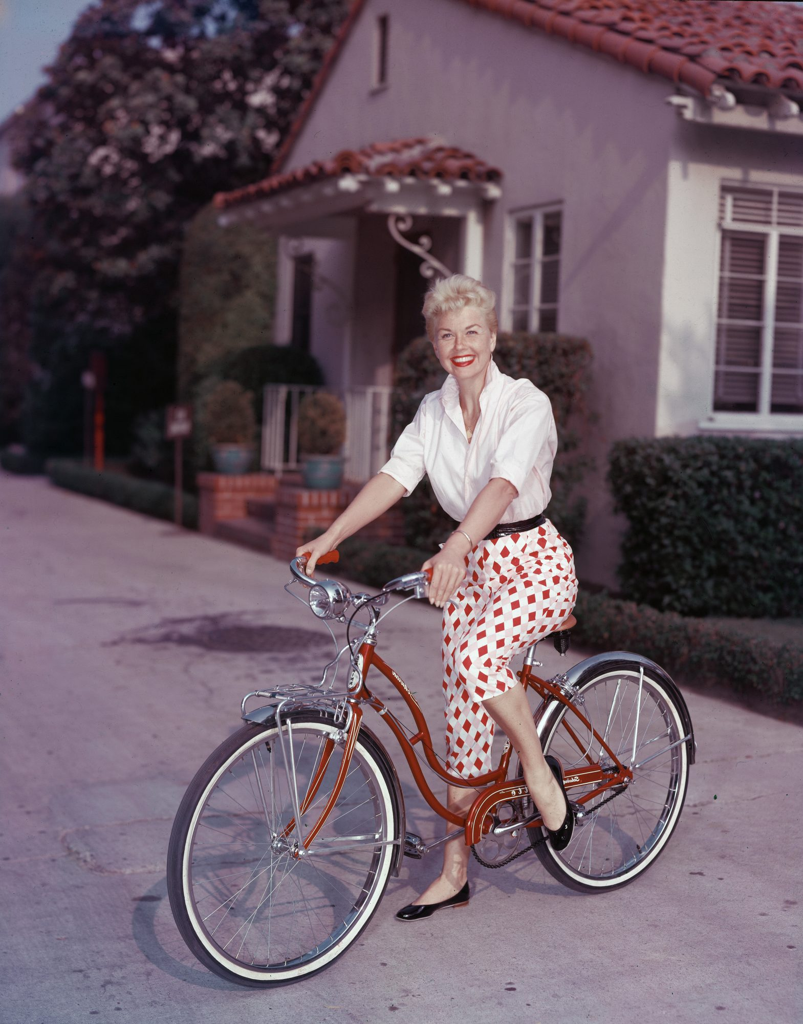 Doris Day Riding Bike