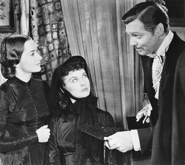 Leigh, Vivien - Actress, Great Britain - *05.11.1913-07.07.1967+ Scene from the movie 'Gone with the Wind'' as Scarlett O'Hara (m) with Clark Gable Directed by: Victor Fleming USA 1939 Produced by: Selznick International Pictures Vintage property of