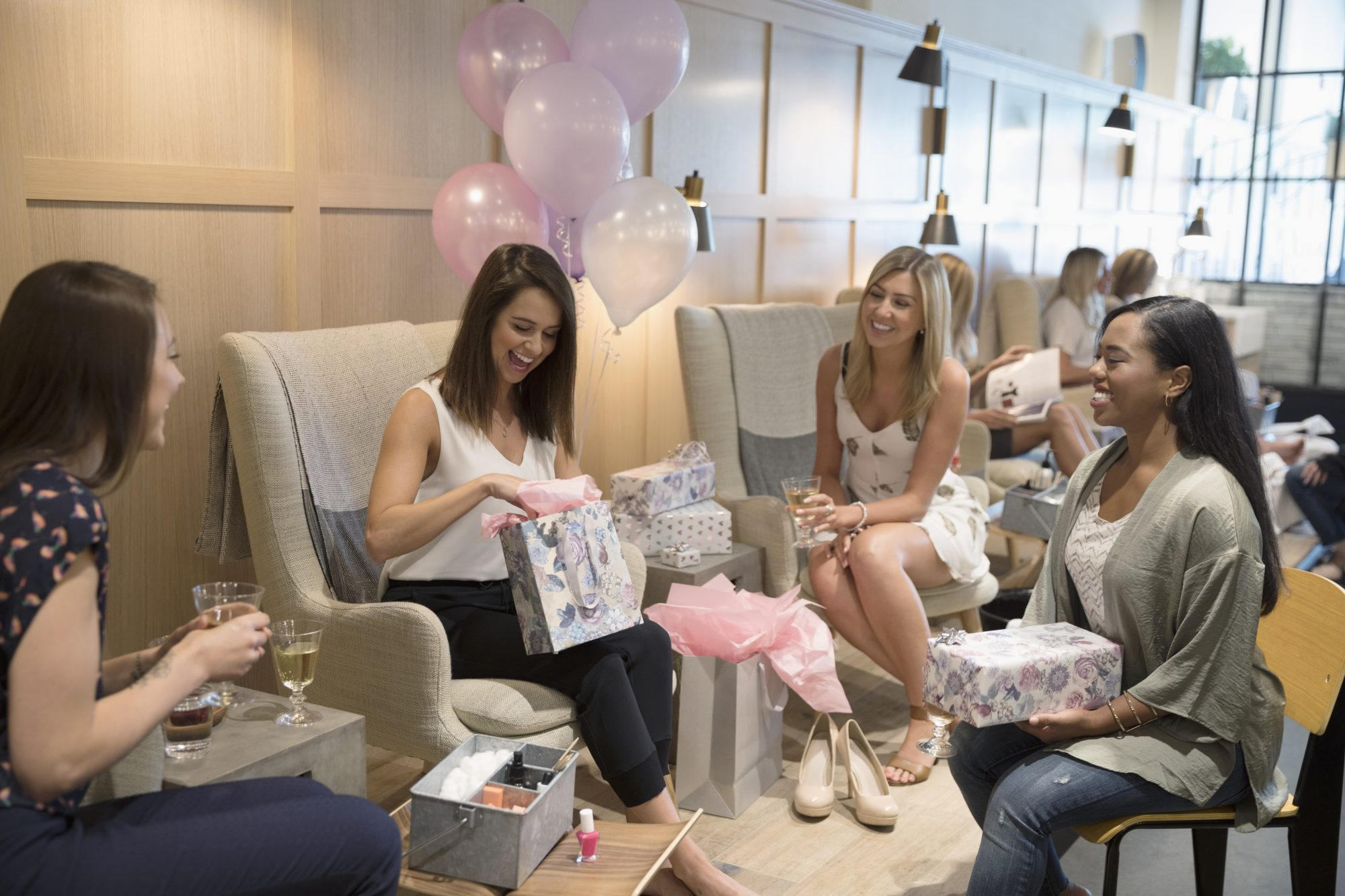 Opening Gifts at Bridal Shower