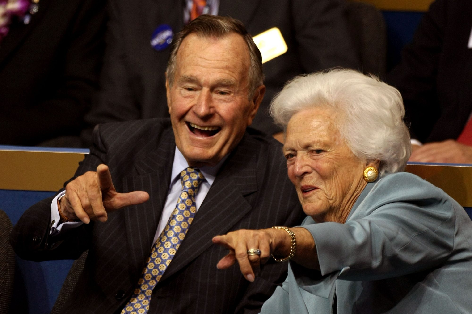Two Seats Were Reserved for George H.W. and Barbara Bush at Rodeo Houston