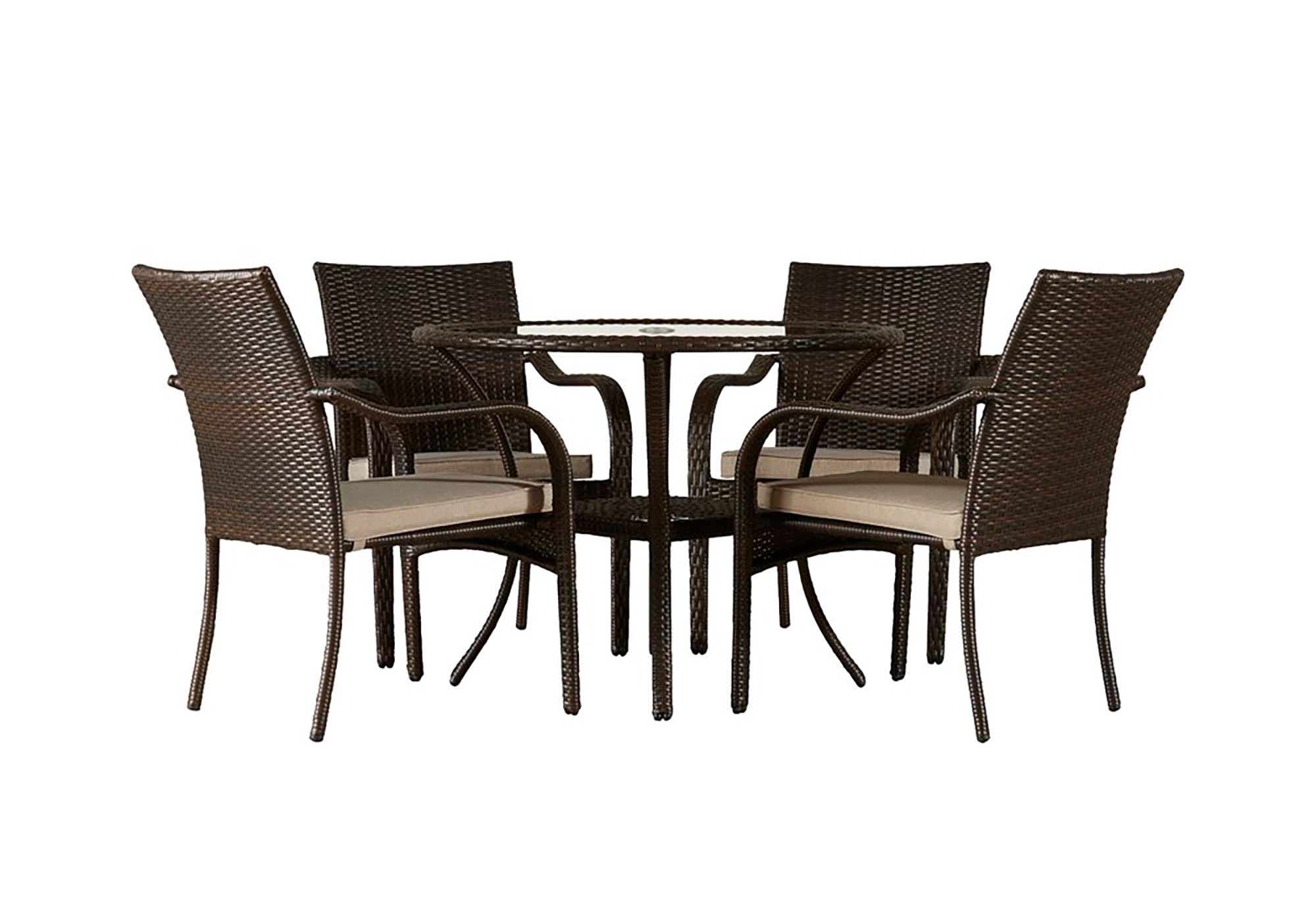 Bennington 5-Piece Dining Set with Cushions