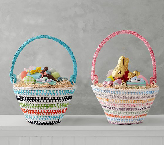 Rainbow Woven Easter Baskets