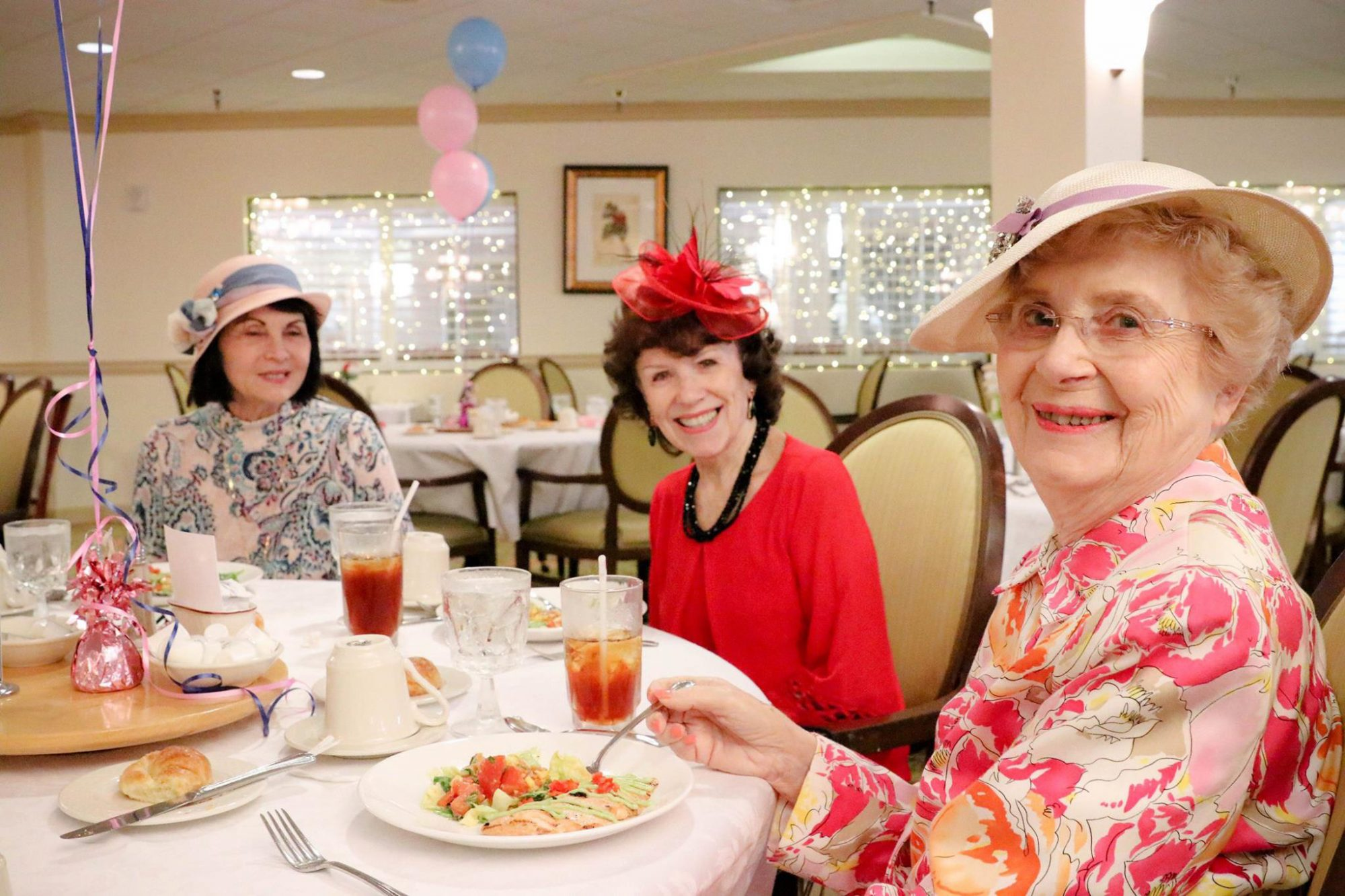 Florida Seniors Throw Sweetest Baby Shower for Meghan Markle and Prince Harry — with Fabulous Hats! shower-4