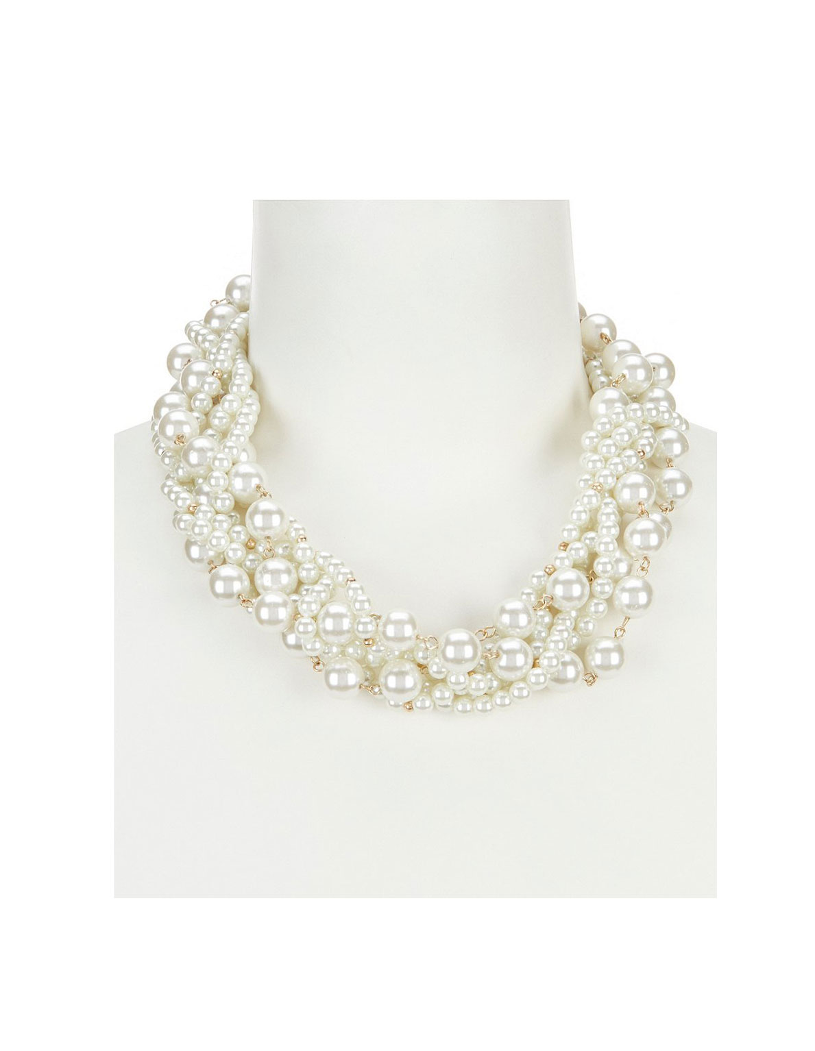 Southern Living Straight Faux-Pearl Torsade Statement Necklace