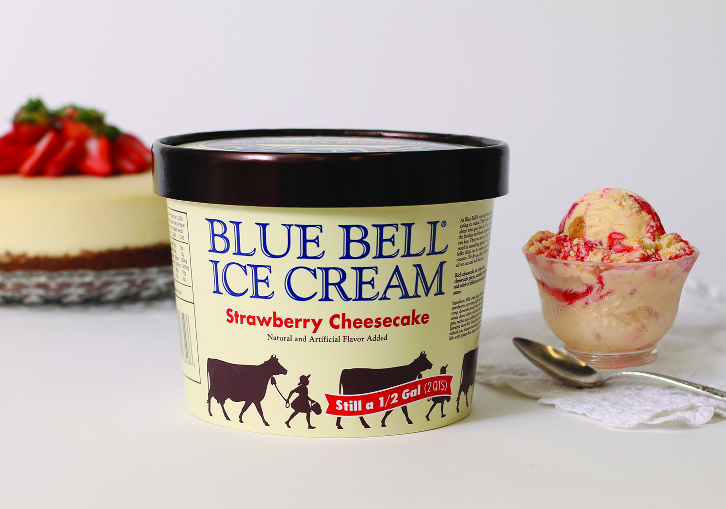 Blue Bell Strawberry Cheesecake Ice Cream