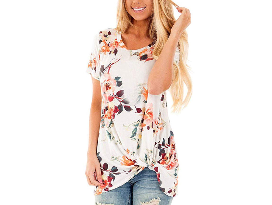 Twist Knot Floral T-Shirt