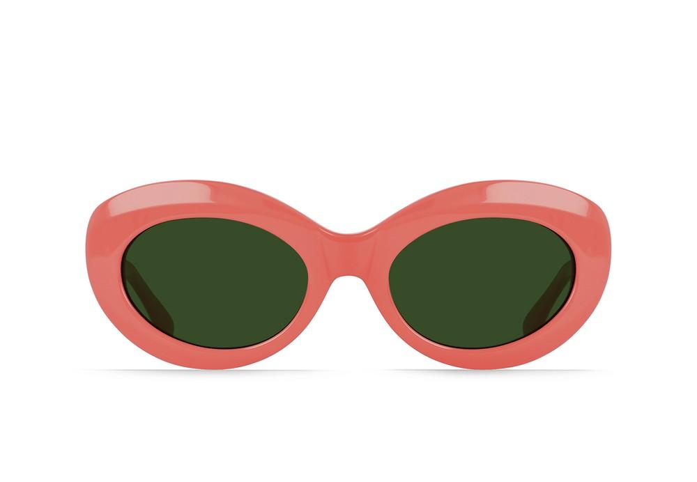 Ashtray Sunglasses in Cherry/Bottle Green