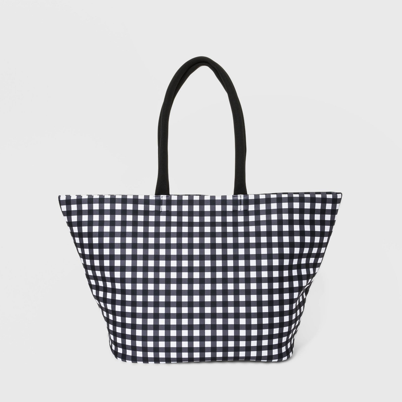 Checkered Neoprene Tote