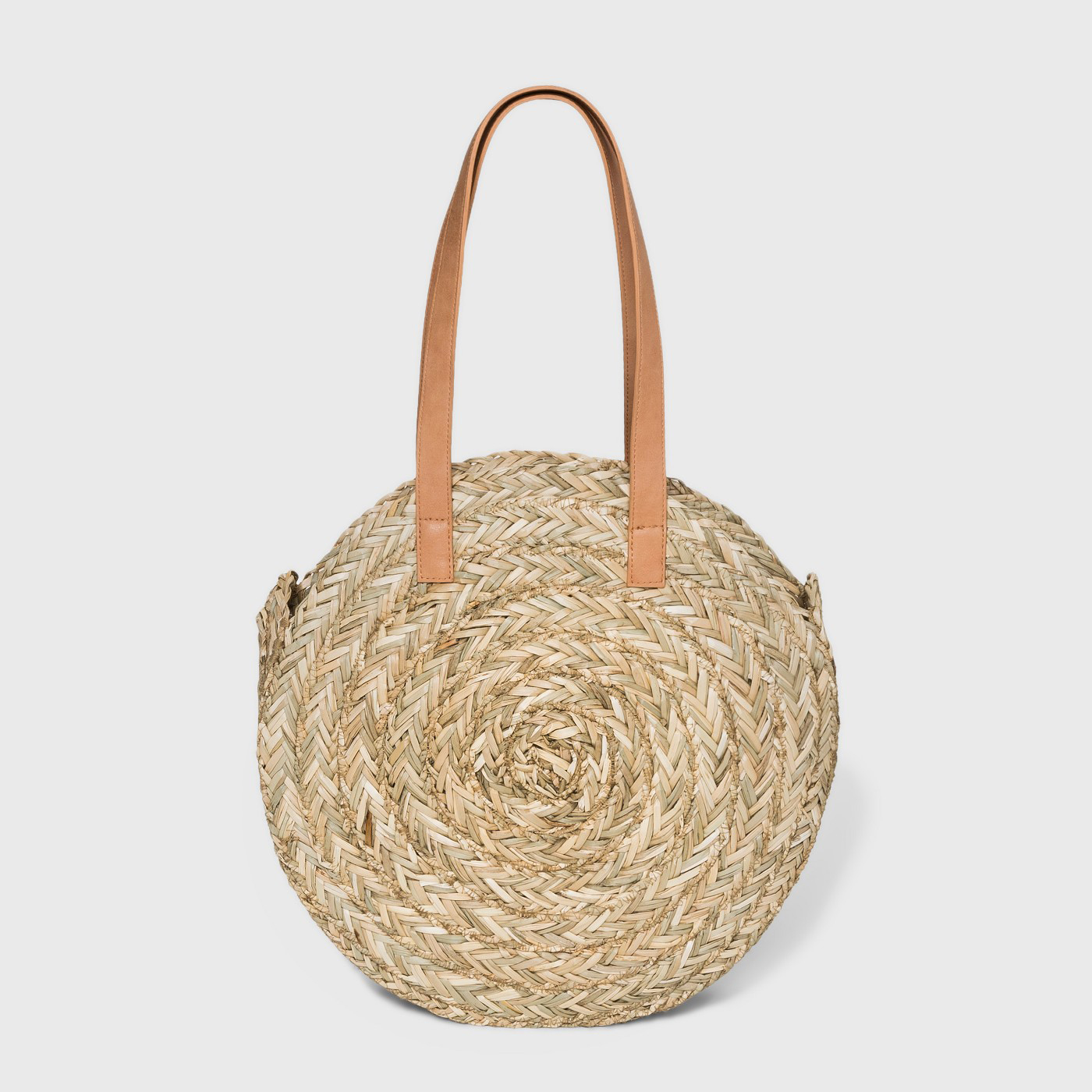 Circle Straw Tote Bag