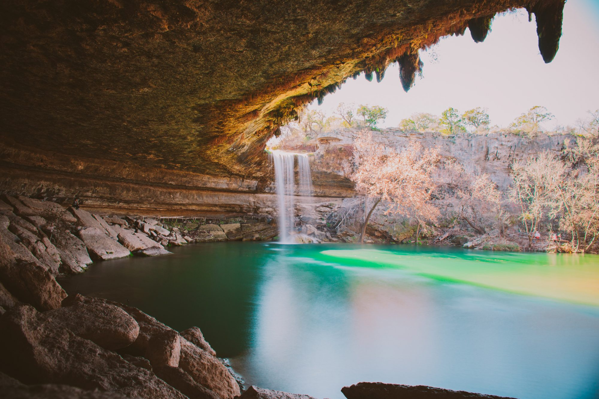 Hamilton Pool Preserve from Inside