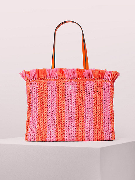 Sam Stripe Straw Tote